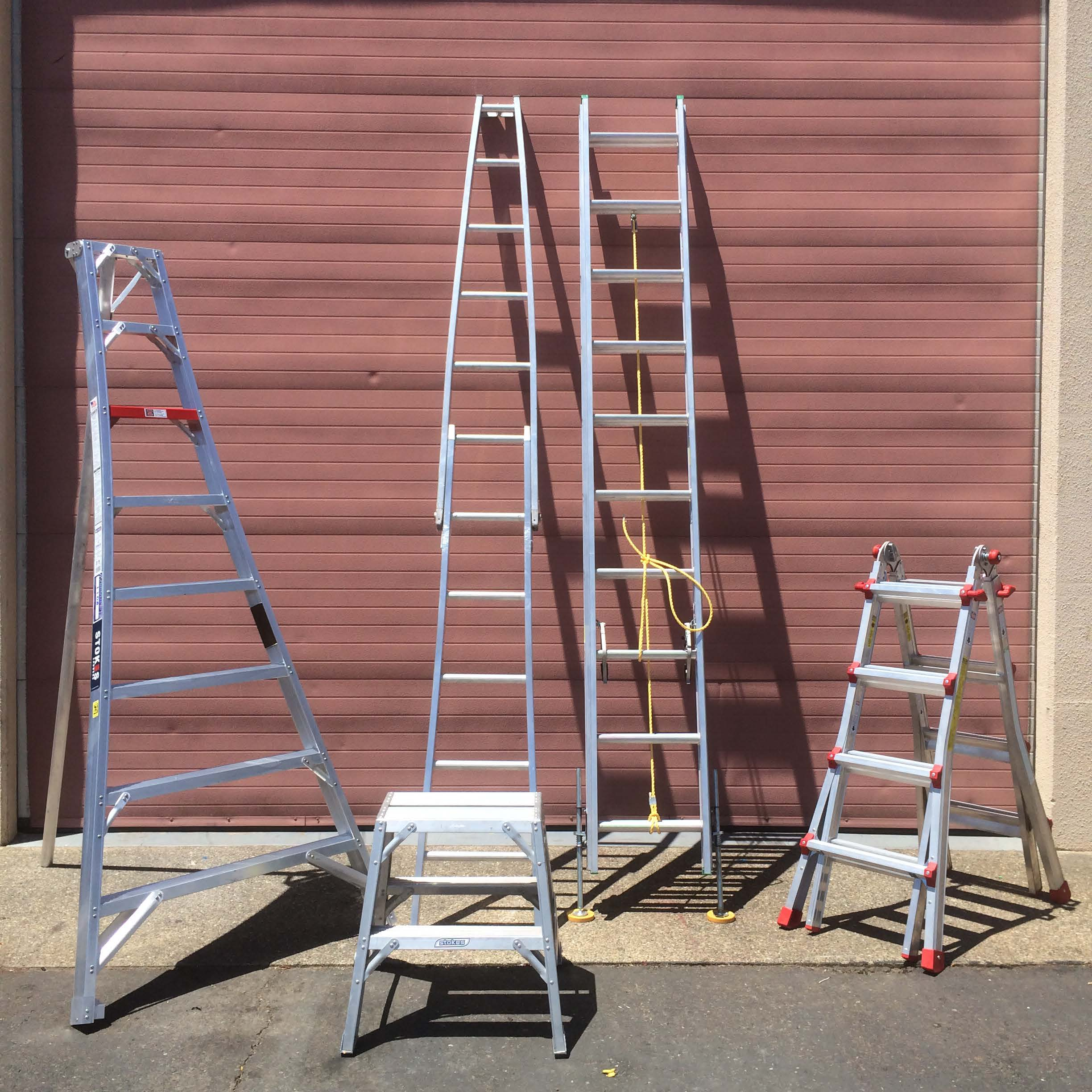 Metal Scaffolding Ladders : Aluminum ladder and scaffolding industrial
