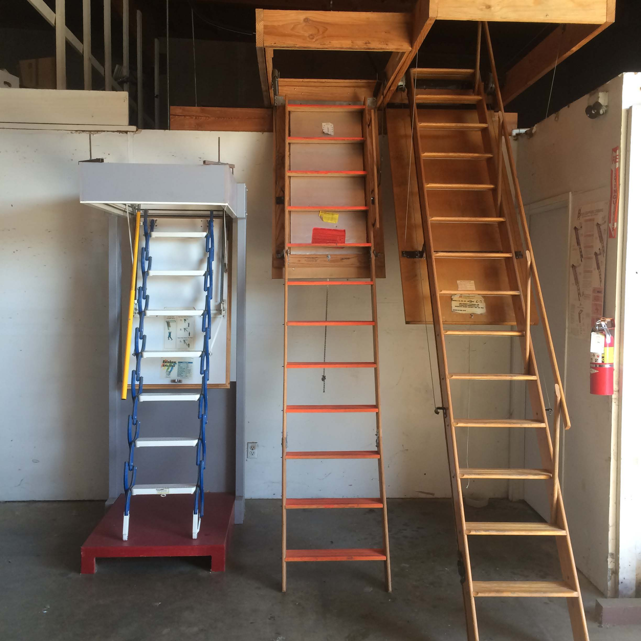 Attic Ladders Industrial Ladder And Scaffolding Inc